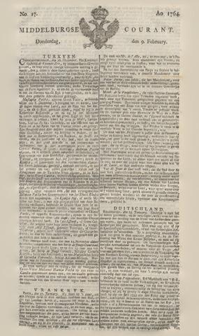 Middelburgsche Courant 1764-02-09