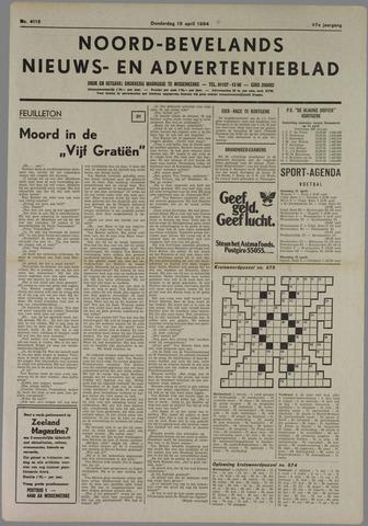 Noord-Bevelands Nieuws- en advertentieblad 1984-04-19