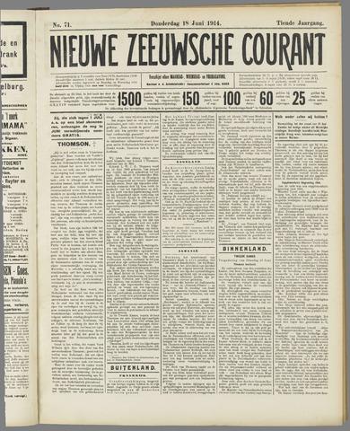Nieuwe Zeeuwsche Courant 1914-06-18