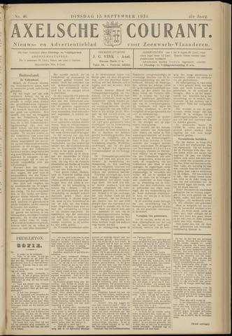 Axelsche Courant 1931-09-15