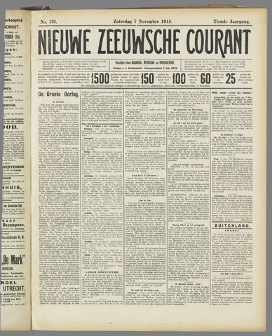 Nieuwe Zeeuwsche Courant 1914-11-07
