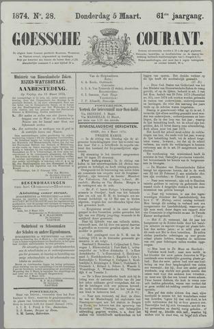 Goessche Courant 1874-03-05