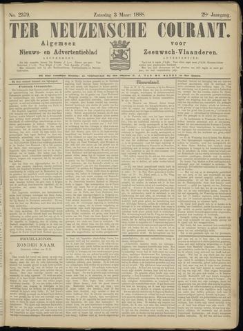 Ter Neuzensche Courant. Algemeen Nieuws- en Advertentieblad voor Zeeuwsch-Vlaanderen / Neuzensche Courant ... (idem) / (Algemeen) nieuws en advertentieblad voor Zeeuwsch-Vlaanderen 1888-03-03