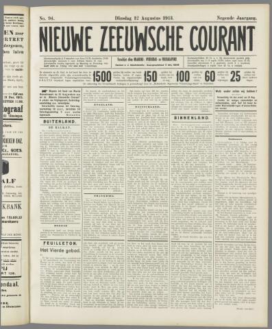 Nieuwe Zeeuwsche Courant 1913-08-12
