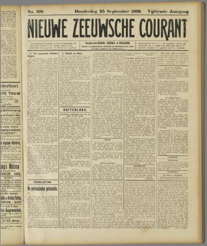 Nieuwe Zeeuwsche Courant 1919-09-25