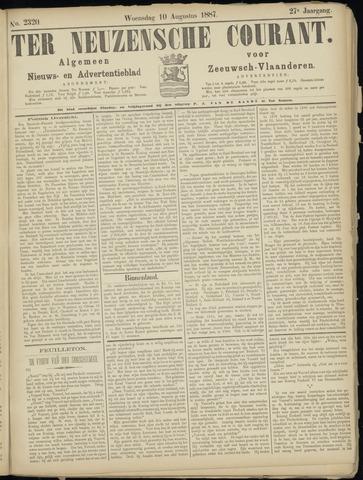 Ter Neuzensche Courant. Algemeen Nieuws- en Advertentieblad voor Zeeuwsch-Vlaanderen / Neuzensche Courant ... (idem) / (Algemeen) nieuws en advertentieblad voor Zeeuwsch-Vlaanderen 1887-08-10