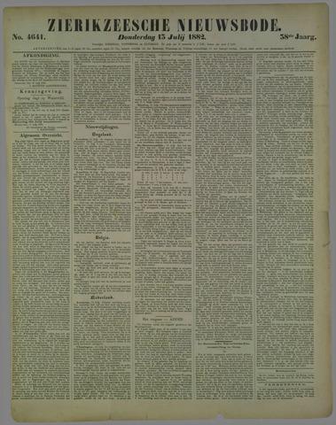 Zierikzeesche Nieuwsbode 1882-07-13