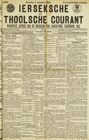 Ierseksche en Thoolsche Courant 1915-08-07