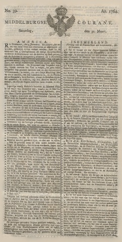 Middelburgsche Courant 1764-03-31