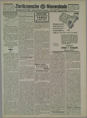 Zierikzeesche Nieuwsbode 1933-10-16
