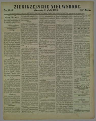Zierikzeesche Nieuwsbode 1882-07-11