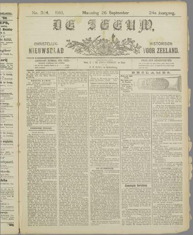 De Zeeuw. Christelijk-historisch nieuwsblad voor Zeeland 1910-09-26