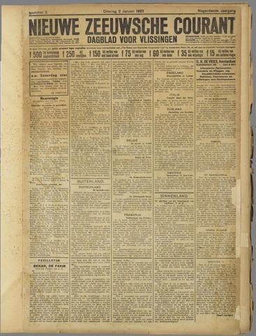 Nieuwe Zeeuwsche Courant 1923
