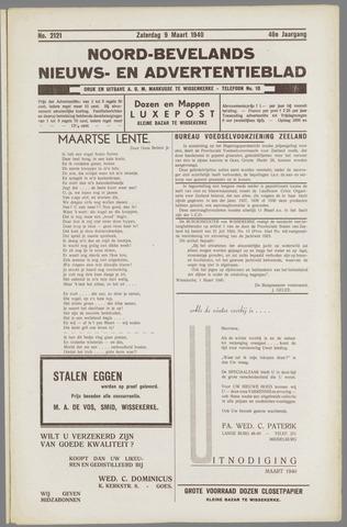 Noord-Bevelands Nieuws- en advertentieblad 1940-03-09