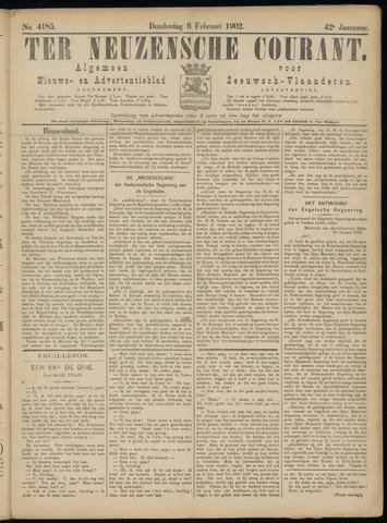Ter Neuzensche Courant. Algemeen Nieuws- en Advertentieblad voor Zeeuwsch-Vlaanderen / Neuzensche Courant ... (idem) / (Algemeen) nieuws en advertentieblad voor Zeeuwsch-Vlaanderen 1902-02-06