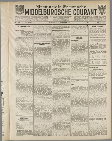 Middelburgsche Courant 1932-10-29