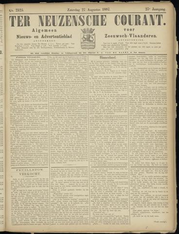 Ter Neuzensche Courant. Algemeen Nieuws- en Advertentieblad voor Zeeuwsch-Vlaanderen / Neuzensche Courant ... (idem) / (Algemeen) nieuws en advertentieblad voor Zeeuwsch-Vlaanderen 1887-08-27