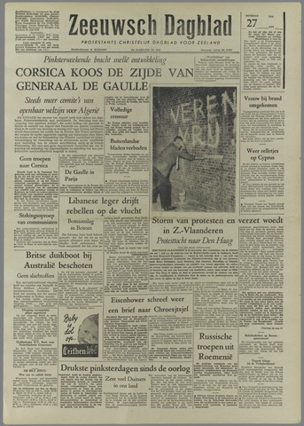 Zeeuwsch Dagblad 1958-05-27