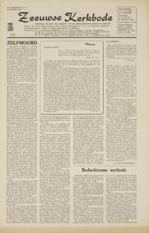 Zeeuwsche kerkbode, weekblad gewijd aan de belangen der gereformeerde kerken/ Zeeuwsch kerkblad 1966-01-28