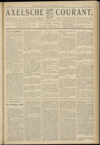 Axelsche Courant 1931-11-20