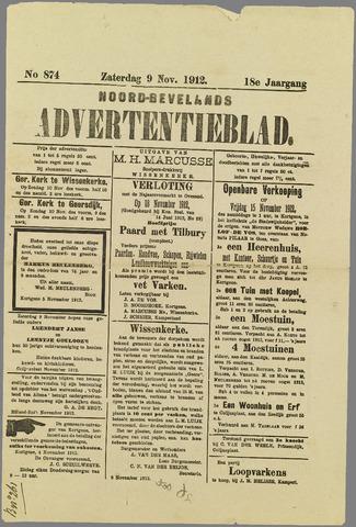 Noord-Bevelands Nieuws- en advertentieblad 1912-11-09