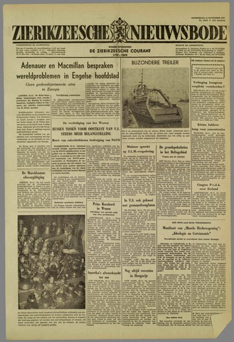 Zierikzeesche Nieuwsbode 1959-11-19