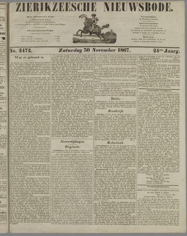 Zierikzeesche Nieuwsbode 1867-11-30