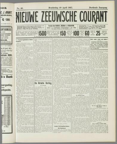 Nieuwe Zeeuwsche Courant 1917-04-19