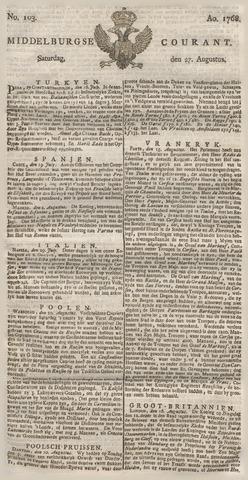 Middelburgsche Courant 1768-08-27