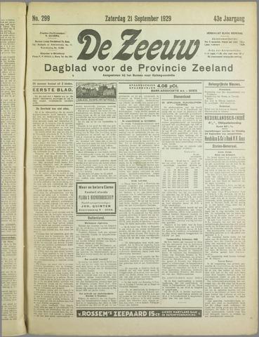 De Zeeuw. Christelijk-historisch nieuwsblad voor Zeeland 1929-09-21