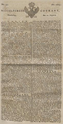 Middelburgsche Courant 1775-08-10