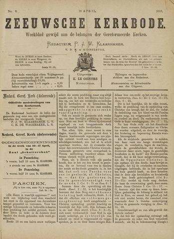 Zeeuwsche kerkbode, weekblad gewijd aan de belangen der gereformeerde kerken/ Zeeuwsch kerkblad 1887-04-10