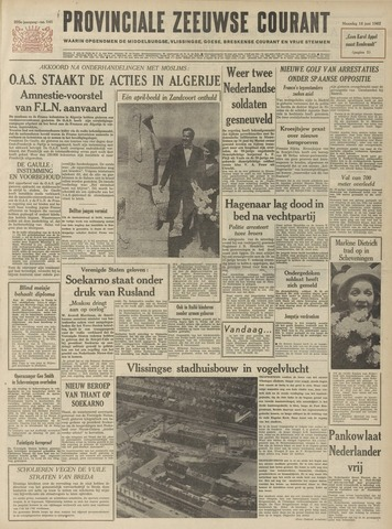 Provinciale Zeeuwse Courant 1962-06-18