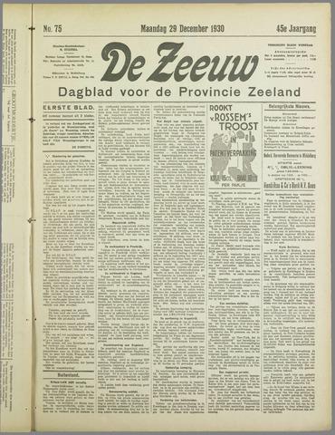 De Zeeuw. Christelijk-historisch nieuwsblad voor Zeeland 1930-12-29