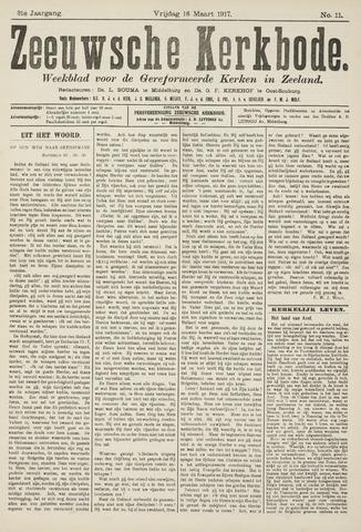 Zeeuwsche kerkbode, weekblad gewijd aan de belangen der gereformeerde kerken/ Zeeuwsch kerkblad 1917-03-16