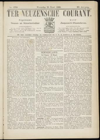 Ter Neuzensche Courant. Algemeen Nieuws- en Advertentieblad voor Zeeuwsch-Vlaanderen / Neuzensche Courant ... (idem) / (Algemeen) nieuws en advertentieblad voor Zeeuwsch-Vlaanderen 1880-03-24