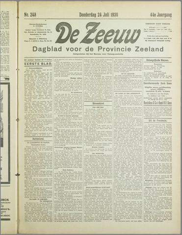 De Zeeuw. Christelijk-historisch nieuwsblad voor Zeeland 1930-07-24