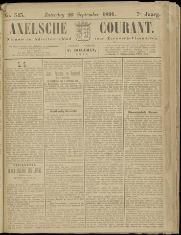 Axelsche Courant 1891-09-26