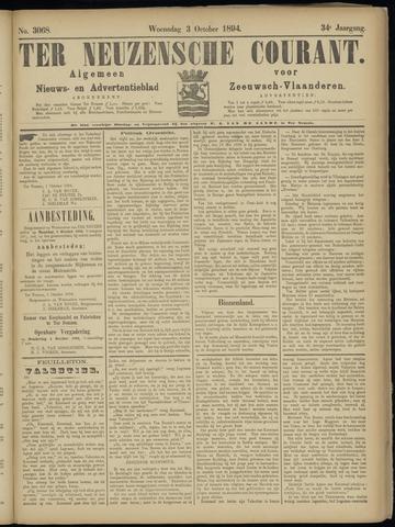 Ter Neuzensche Courant. Algemeen Nieuws- en Advertentieblad voor Zeeuwsch-Vlaanderen / Neuzensche Courant ... (idem) / (Algemeen) nieuws en advertentieblad voor Zeeuwsch-Vlaanderen 1894-10-03