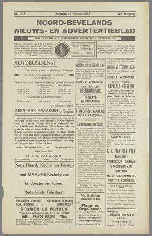 Noord-Bevelands Nieuws- en advertentieblad 1936-02-15