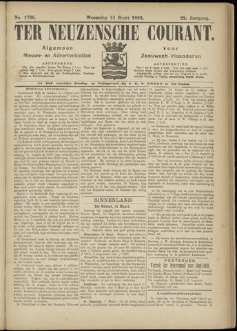 Ter Neuzensche Courant. Algemeen Nieuws- en Advertentieblad voor Zeeuwsch-Vlaanderen / Neuzensche Courant ... (idem) / (Algemeen) nieuws en advertentieblad voor Zeeuwsch-Vlaanderen 1882-03-15