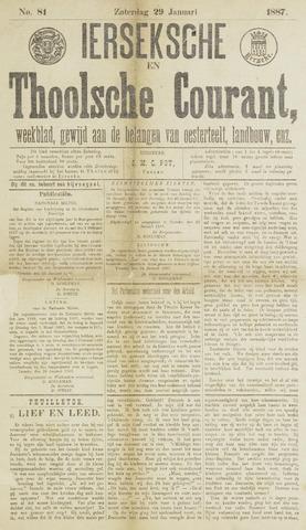 Ierseksche en Thoolsche Courant 1887-01-29