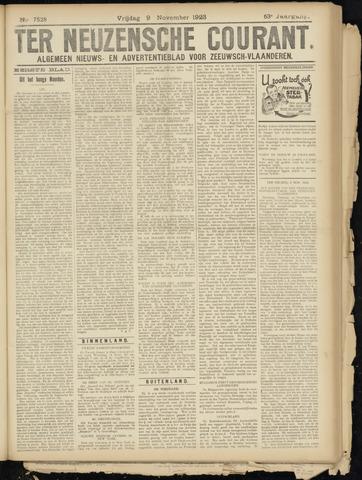 Ter Neuzensche Courant. Algemeen Nieuws- en Advertentieblad voor Zeeuwsch-Vlaanderen / Neuzensche Courant ... (idem) / (Algemeen) nieuws en advertentieblad voor Zeeuwsch-Vlaanderen 1923-11-09