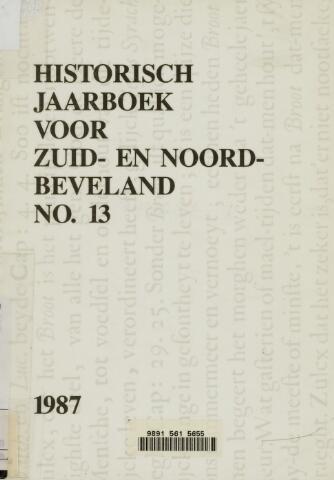 Historisch Jaarboek Zuid- en Noord-Beveland 1987-01-01