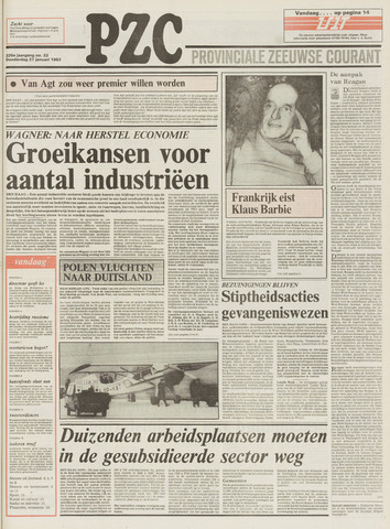 Provinciale Zeeuwse Courant 1983-01-27