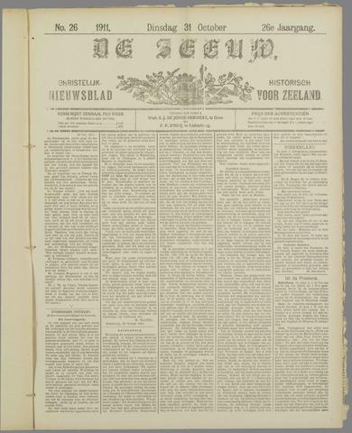 De Zeeuw. Christelijk-historisch nieuwsblad voor Zeeland 1911-10-31