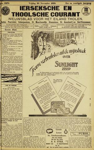 Ierseksche en Thoolsche Courant 1928-11-30