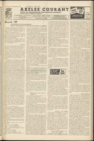 Axelsche Courant 1957-06-15