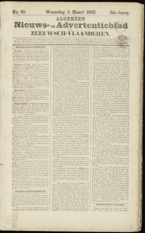 Ter Neuzensche Courant. Algemeen Nieuws- en Advertentieblad voor Zeeuwsch-Vlaanderen / Neuzensche Courant ... (idem) / (Algemeen) nieuws en advertentieblad voor Zeeuwsch-Vlaanderen 1862-03-05