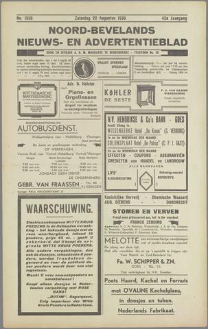 Noord-Bevelands Nieuws- en advertentieblad 1936-08-22